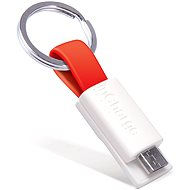 inCharge Micro USB Red, 0.08m - Datový kabel