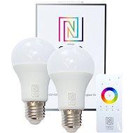 Immax Neo LED E27 A60 8,5W 2ks + ovladač - LED žárovka