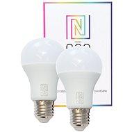 Immax NEO Smart sada 2x žárovka LED E27 9W barevná i teplá bílá, stmívatelná, Zigbee 3.0 - LED žárovka
