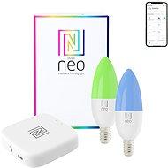 Immax NEO SUPRISE Smart sada BRIDGE PRO, 2x žárovka E14, 5W, barevná stmívatelná, Zigbee 3.0 - LED žárovka
