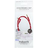 Inakustik 3.5mm jack  0.75m červený - Audio kabel