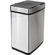 iQ-Tech Luxe Quadrat 50l, stříbrný - Odpadkový koš