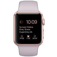 Apple Watch Sport 38mm Růžově zlatý hliník s levandulovým řemínkem - Chytré hodinky