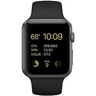 Apple Watch Sport 42mm Vesmírně šedý hliník s černým řemínkem - Chytré hodinky