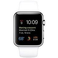 Apple Watch 42mm Nerez ocel s bílým řemínkem - Chytré hodinky