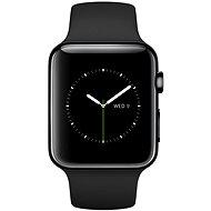 Apple Watch 42mm Vesmírně černá nerez ocel s černým řemínkem - Chytré hodinky