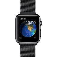 Apple Watch 42mm Vesmírně černá nerez ocel s černým milánským tahem - Chytré hodinky