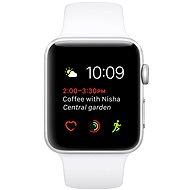 Apple Watch Series 1 38mm Stříbrný hliník s bílým sportovním řemínkem - Chytré hodinky