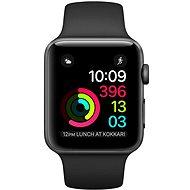 Apple Watch Series 1 42mm Vesmírně šedý hliník s černým sportovním řemínkem - Chytré hodinky