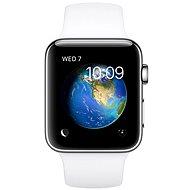 Apple Watch Series 2 38mm Nerezová ocel s bílým sportovním řemínkem - Chytré hodinky