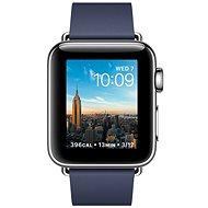 Apple Watch Series 2 38mm Nerezová ocel s půlnočně modrým řemínkem s moderní přezkou - velkým - Chytré hodinky