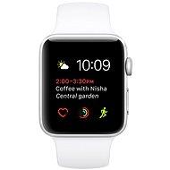 Apple Watch Series 2 42mm Stříbrný hliník s bílým sportovním páskem - Chytré hodinky