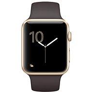 Apple Watch Series 2 42mm Zlatý hliník s kakaově hnědým sportovním řemínkem - Chytré hodinky
