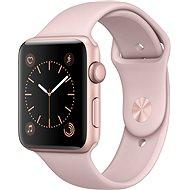 Apple Watch Series 2 42mm Růžově zlatý hliník s pískově růžovým sportovním řemínkem - Chytré hodinky