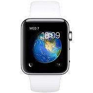 Apple Watch Series 2 42mm Nerezová ocel s bílým sportovním řemínkem - Chytré hodinky