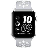 Apple Watch Series 2 Nike+ 42mm Stříbrný hliník s matně stříbrným / bílým sportovním řemínkem Nike - Chytré hodinky