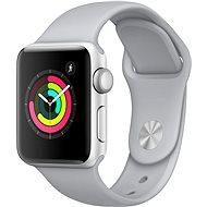 Apple Watch Series 3 38mm GPS Stříbrný hliník s mlhově šedým sportovním řemínkem - Chytré hodinky