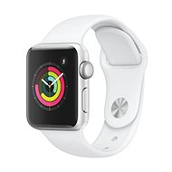 Apple Watch Series 3 38mm GPS Silver Aluminium with White Sports Strap - Smartwatch