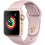 Apple Watch Series 3 38mm GPS Zlatý hliník s pískově růžovým sportovním řemínkem - Chytré hodinky