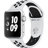 Apple Watch Series 3 Nike+ 38mm GPS Stříbrný hliník s platinovým/šedým sportovním řemínkem Nike - Chytré hodinky