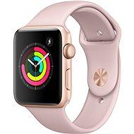 Apple Watch Series 3 42mm GPS Zlatý hliník s pískově růžovým sportovním řemínkem - Chytré hodinky