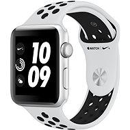 Apple Watch Series 3 Nike+ 42mm GPS Stříbrný hliník s platinovým/šedým sportovním řemínkem Nike - Chytré hodinky