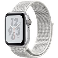 Apple Watch Series 4 Nike + 40mm Silver aluminum with a snow-white sports strap Nik - Smartwatch