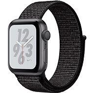 Apple Watch Series 4 Nike+ 40mm Vesmírně černý hliník s černým provlékacím sportovním řemínkem Nike - Chytré hodinky
