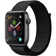 Apple Watch Series 4, 44mm Space Black Aluminium with Black Sportswear Strap - Smartwatch