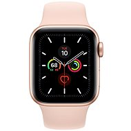 Apple Watch Series 5 40mm, Gold Aluminium with Sand Pink Sport Band - Smartwatch