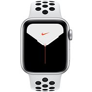 Apple Watch Nike Series 5 40mm Silver Aluminium with Platinum/Nike Black Sports Strap - Smartwatch