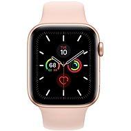 Apple Watch Series 5 44mm Zlatý hliník s pískově růžovým sportovním řemínkem - Chytré hodinky
