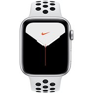 Apple Watch Nike Series 5 44mm Silver aluminum with Nike platinum / black sports strap - Smartwatch