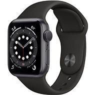 Apple Watch Series 6 40mm Vesmírně šedý hliník s černým sportovním řemínkem - Chytré hodinky