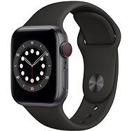 Apple Watch Series 6 40mm Cellular Vesmírně šedý hliník s černým sportovním řemínkem - Chytré hodinky