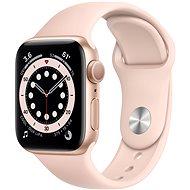 Apple Watch Series 6 40mm Zlatý hliník s pískově růžovým sportovním řemínkem - Chytré hodinky