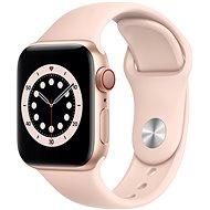 Apple Watch Series 6 40mm Cellular Zlatý hliník s pískově růžovým sportovním řemínkem - Chytré hodinky