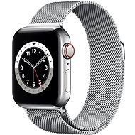 Apple Watch Series 6 40mm Cellular Stříbrný nerez se stříbrným milánským tahem - Chytré hodinky