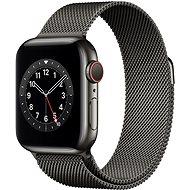 Apple Watch Series 6 40mm Cellular Grafitově šedý nerez s Grafitově šedým milánským tahem - Chytré hodinky