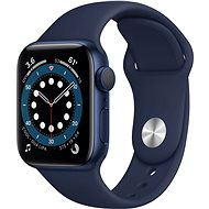 Apple Watch Series 6 44mm Blue Aluminium with Navy Blue Sports Strap - Smartwatch