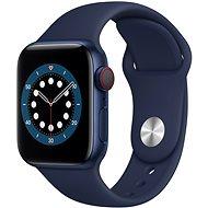 Apple Watch Series 6 44mm Cellular Modrý hliník s námořně modrým sportovním řemínkem