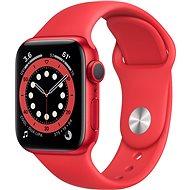Apple Watch Series 6 44mm Červený hliník s červeným sportovním řemínkem - Chytré hodinky