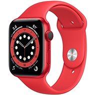 Apple Watch Series 6 44mm Cellular Červený hliník s červeným sportovním řemínkem - Chytré hodinky