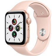 Apple Watch SE 40mm Zlatý hliník s pískově růžovým sportovním řemínkem - Chytré hodinky