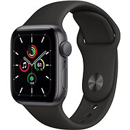 Apple Watch SE 40mm Space Black Aluminium with Black Sports Strap - Smartwatch