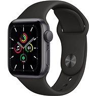 Apple Watch SE 40mm Vesmírně černý hliník s černým sportovním řemínkem - Chytré hodinky