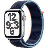 Apple Watch SE 40mm Cellular Stříbrný hliník s námořně modrým sportovním řemínkem - Chytré hodinky