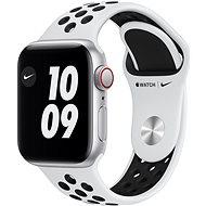 Apple Watch Nike SE 40mm Cellular Stříbrný hliník s platinovým/černým sportovním řemínkem Nike - Chytré hodinky