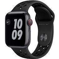 Apple Watch Nike SE 40mm Cellular Vesmírně šedý hliník s antracitovým/černým sportovním řemínkem Nik - Chytré hodinky