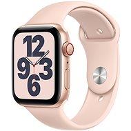 Apple Watch SE 44mm Cellular Zlatý hliník s pískově růžovým sportovním řemínkem
